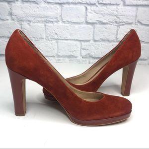 Franco Sarto Genuine Suede Balada Heels